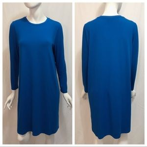 Eileen Fisher Blue Long Sleeve Shift Dress